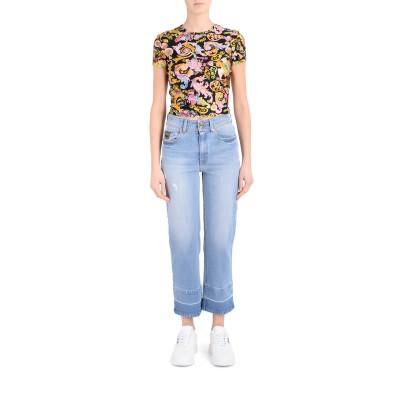 Laterale Vaquero Versace Jeans Couture de denim celeste
