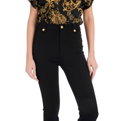 Laterale Pantalone Versace Jeans Couture nero