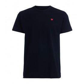 Camiseta de hombre Comme Des Garçons PLAY negra corazón rojo