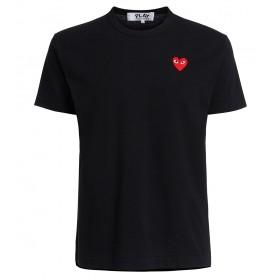 Camiseta Comme des Garçons Play de cuello redondo negro