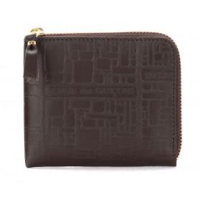 Bolso clutch Wallet Comme Des Garçons de piel estampada marrón