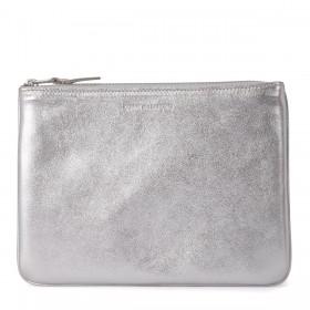 Bolso clutch Comme des Garçons Wallet de piel plata
