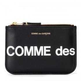 Cartera Comme Des Garçons Wallet Huge Logotipo de piel negra
