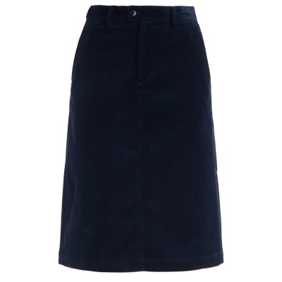 Gonna A.P.C. Carry in velluto blu navy