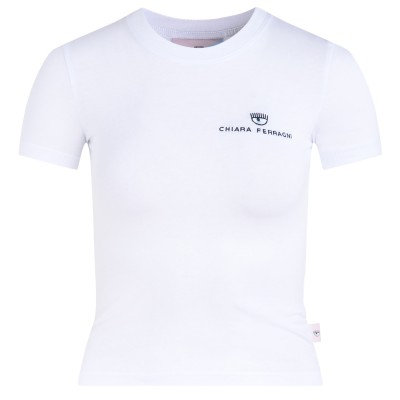 T-shirt Chiara Ferragni bianca con logo