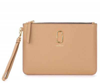 Pochette The Marc Jacobs The Softshot in pelle beige