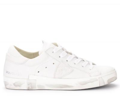 Sneaker Philippe Model Paris X in pelle bianca