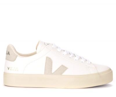 Sneaker Veja Campo Chromefree da uomo in pelle bianca