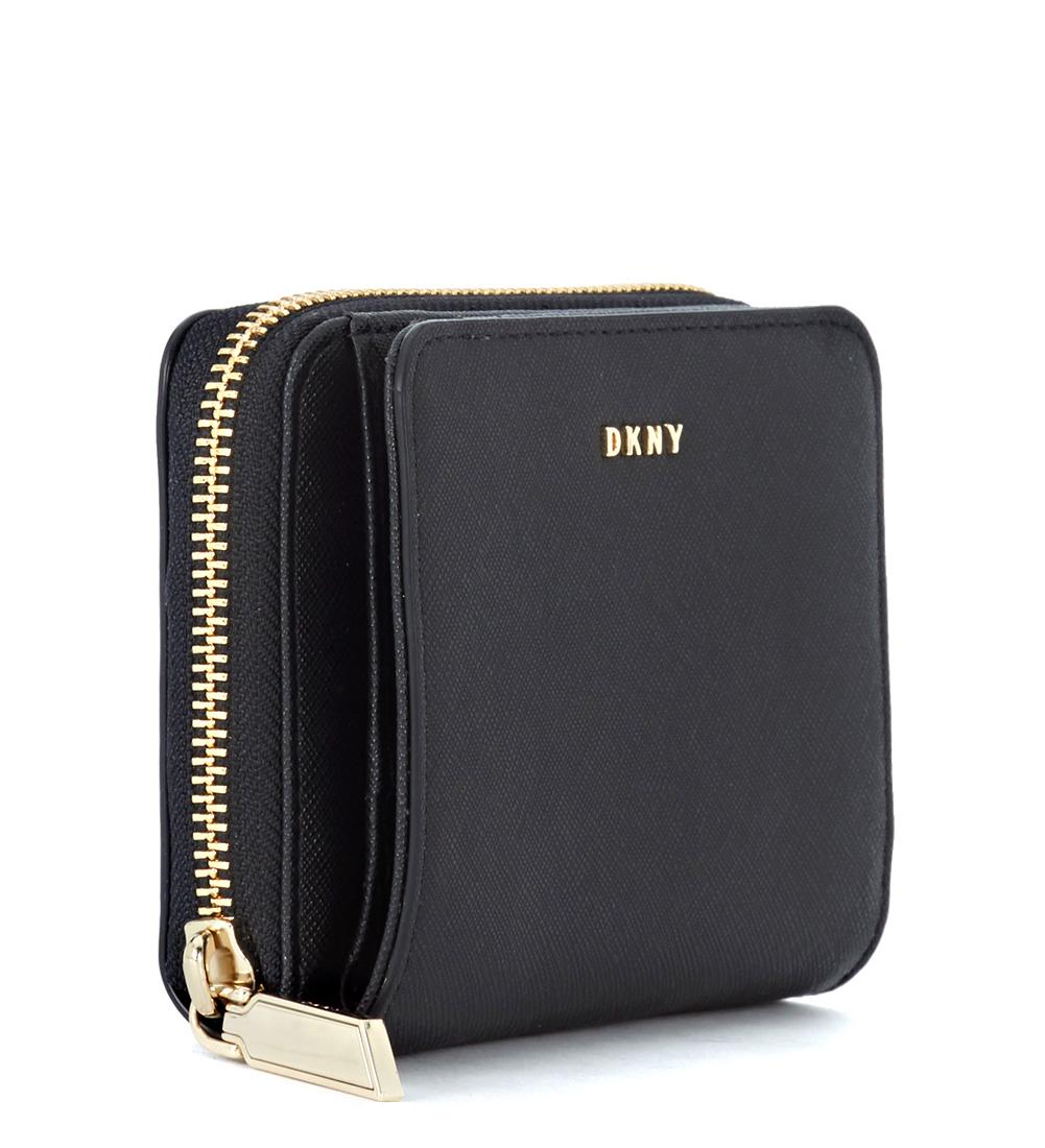 Lyst - Dkny Saffiano Leather Wallet Clutch in Black |Dkny Wallet