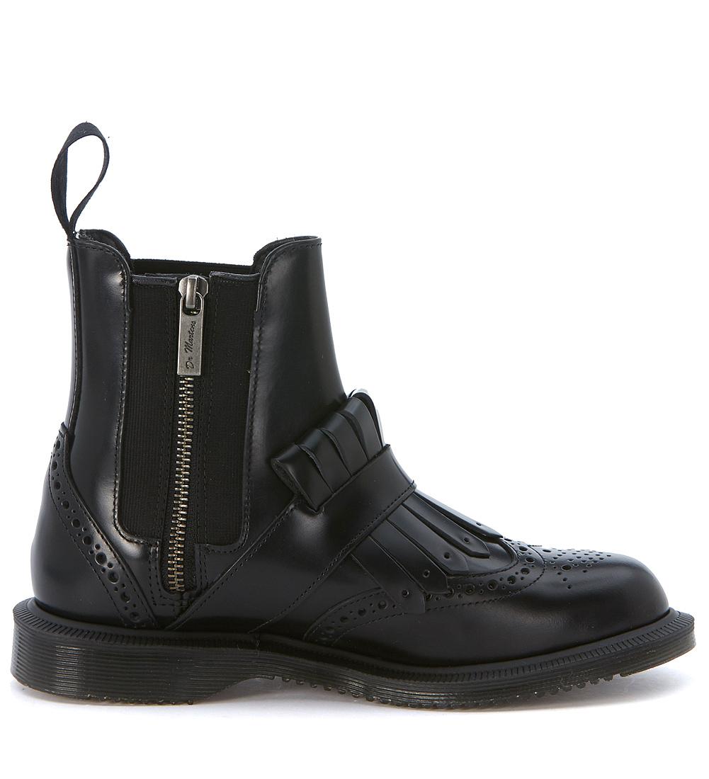 dr martens chelsea boots tina geb rstetes leder schwarz. Black Bedroom Furniture Sets. Home Design Ideas