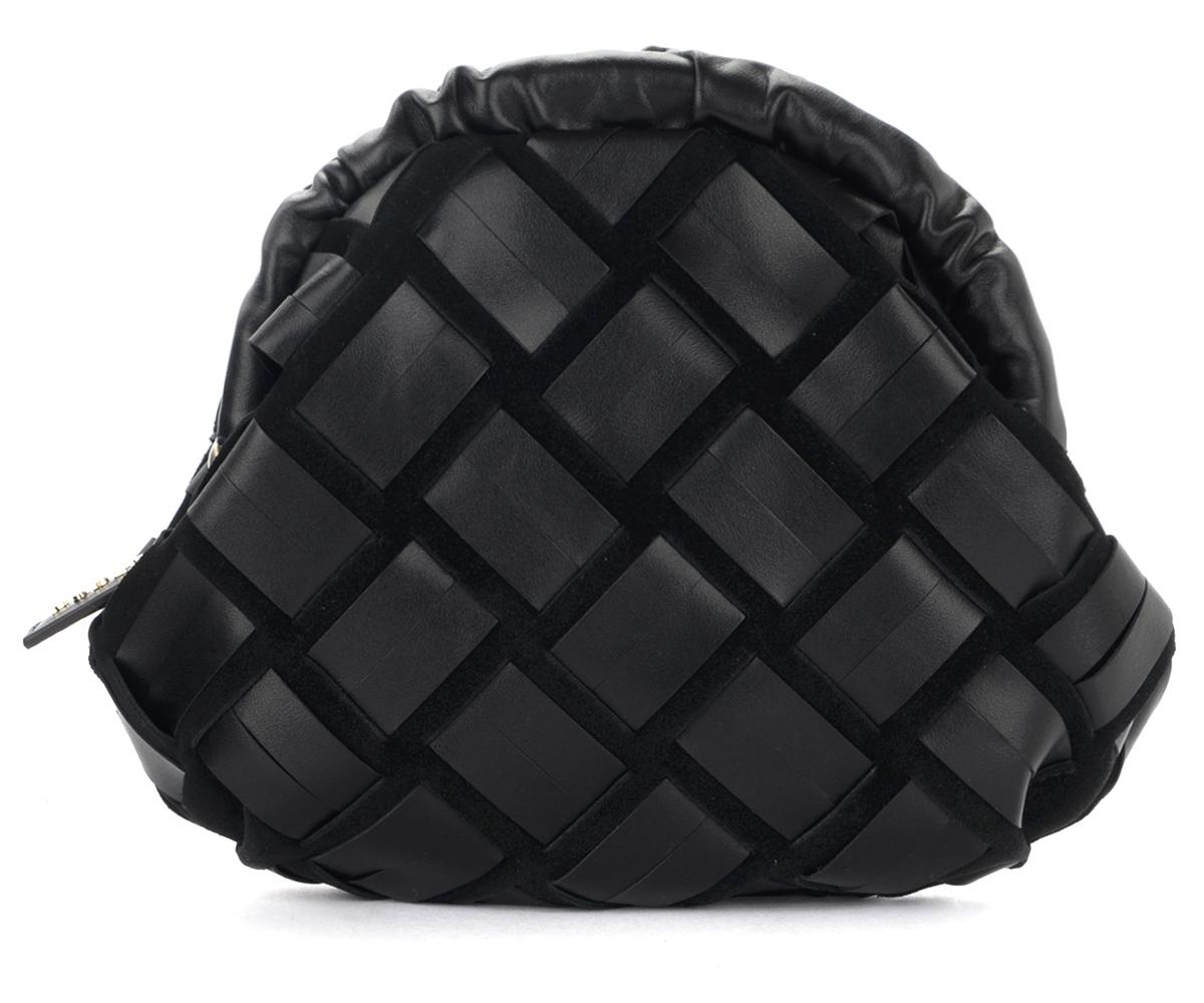Pochette Essential en cuir et daim noir - Furla - Modalova