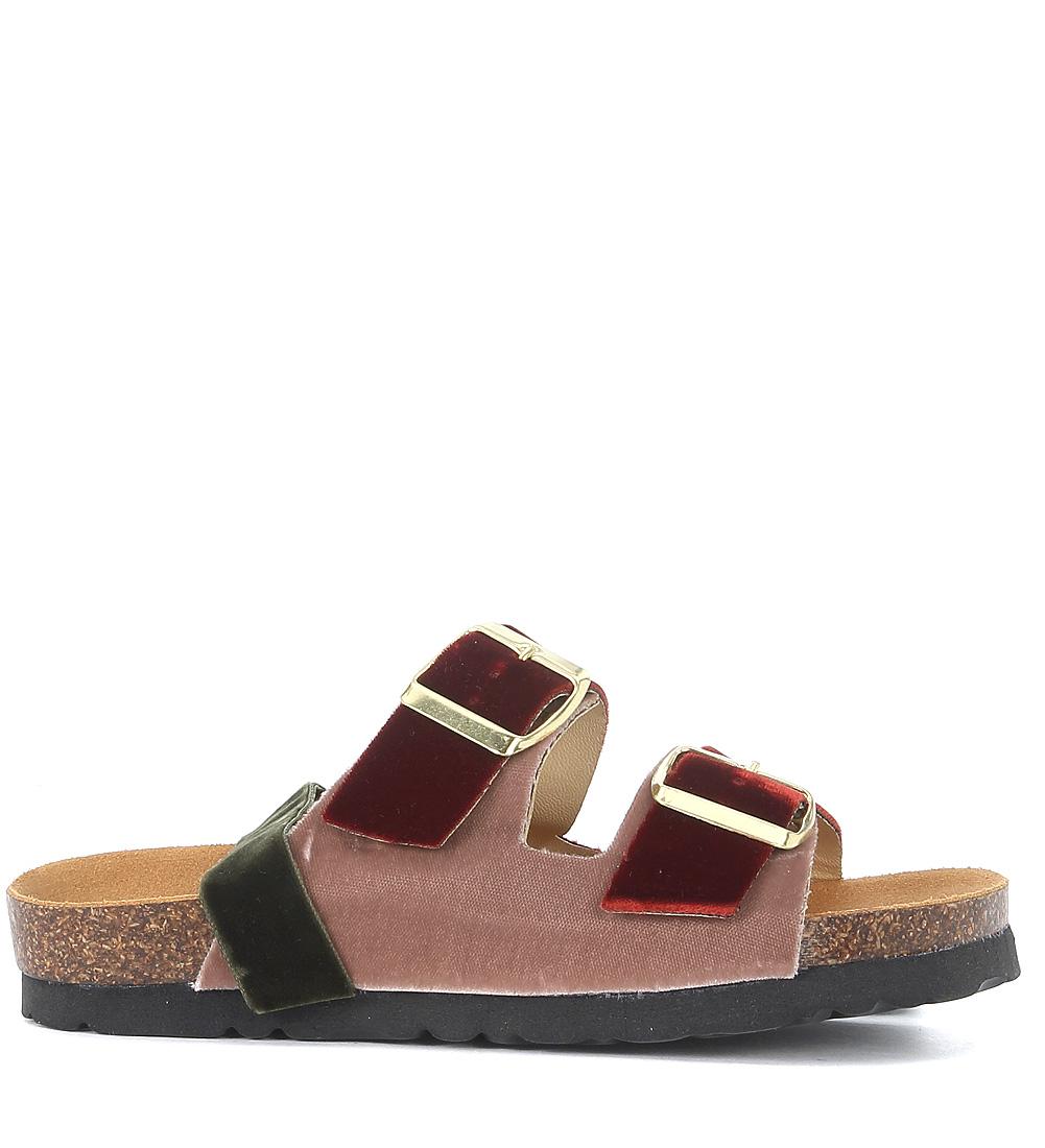 Sandalo in velluto con nastri Gia Couture apl9R
