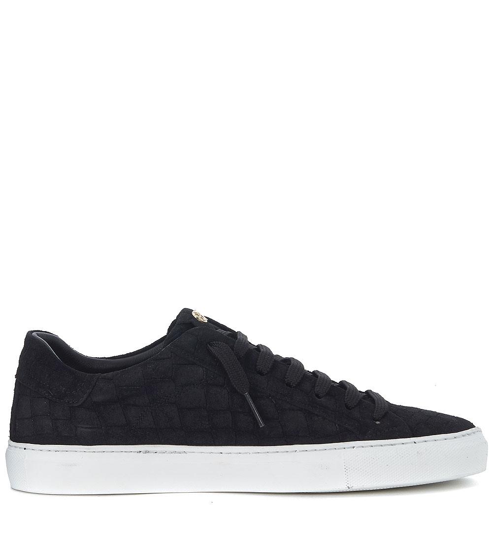 Sneaker Sneaker Sneaker Hide&Jack Essence Croco in suede nero a7af42