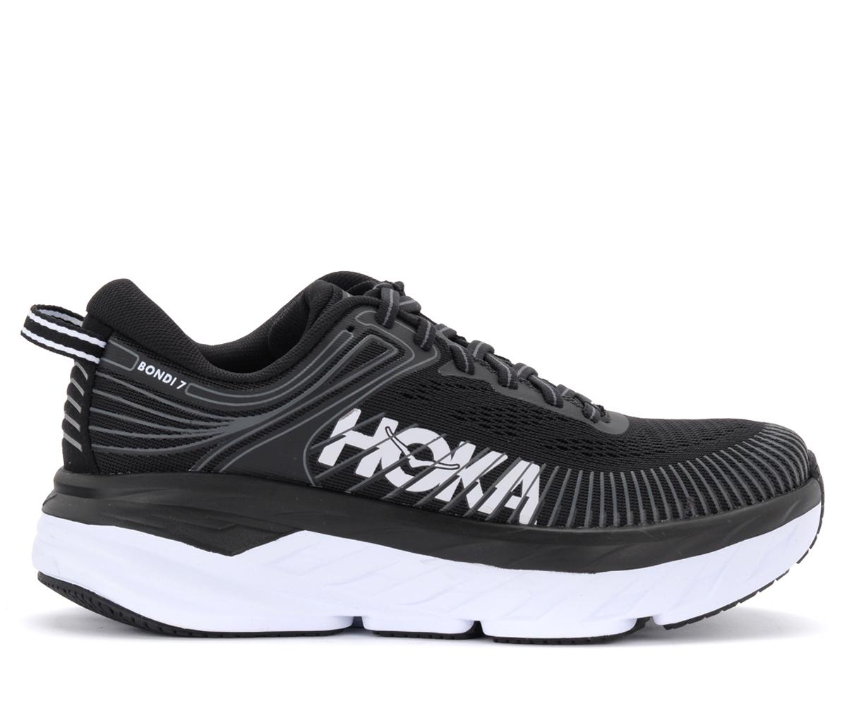 Baskets Hoka Bondi 7 en tissu noir avec logo blanc - Hoka One One - Modalova