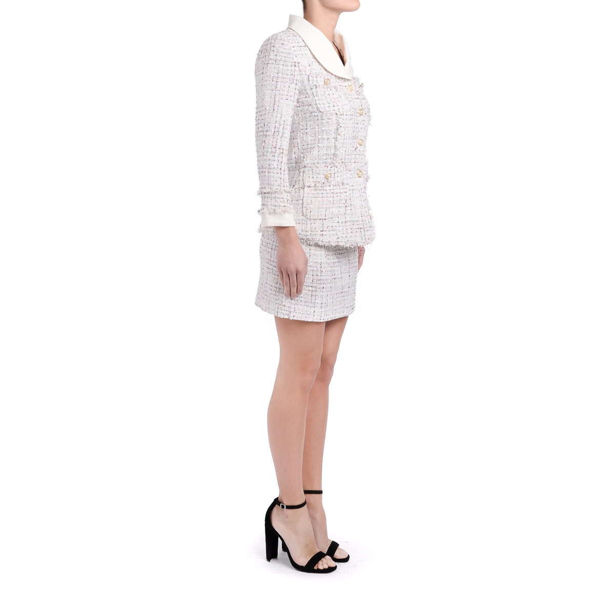 Gonna Tweed E In Rosa Bianco Berima Jovonna TqrgTC
