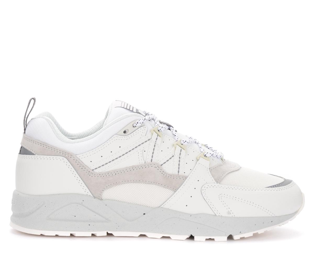 karhu sneaker da donna fusion 2.0 in pelle e tessuto bianco, bianco, donna