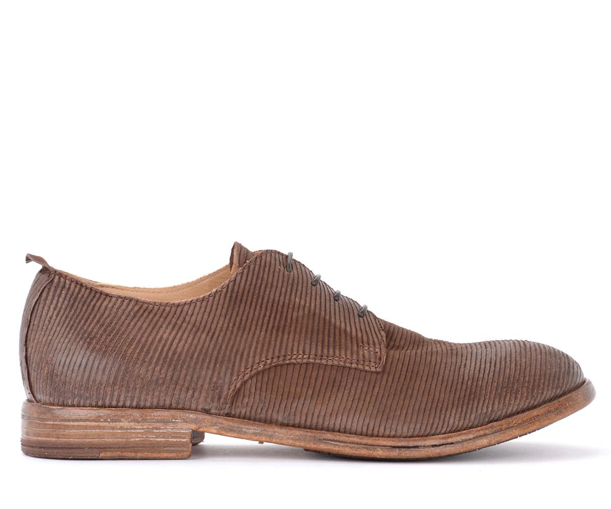 Chaussure à lacets Tocai en cuir brun foncé découpé au laser - MOMA - Modalova