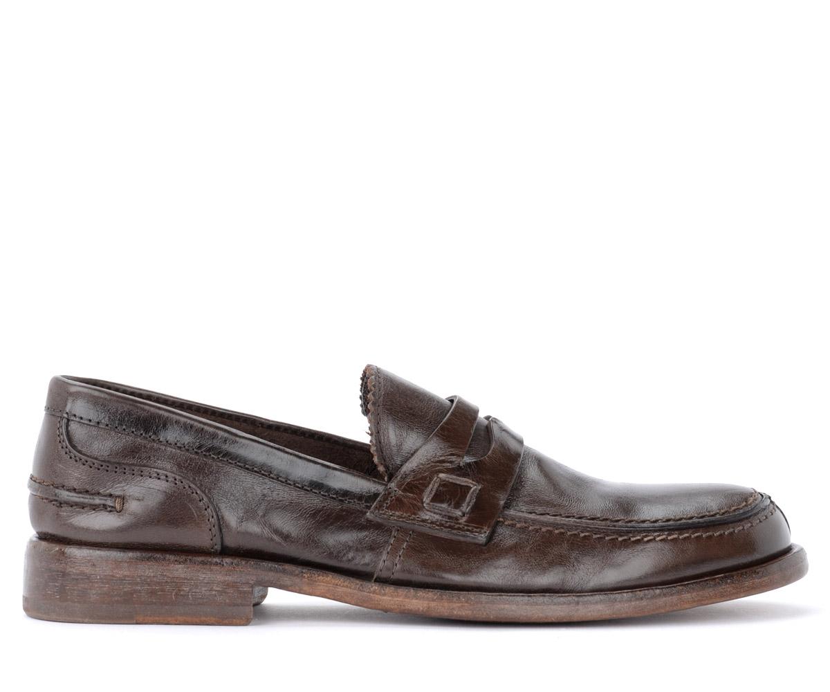 Mocassins Appalosa en cuir brun foncé - MOMA - Modalova