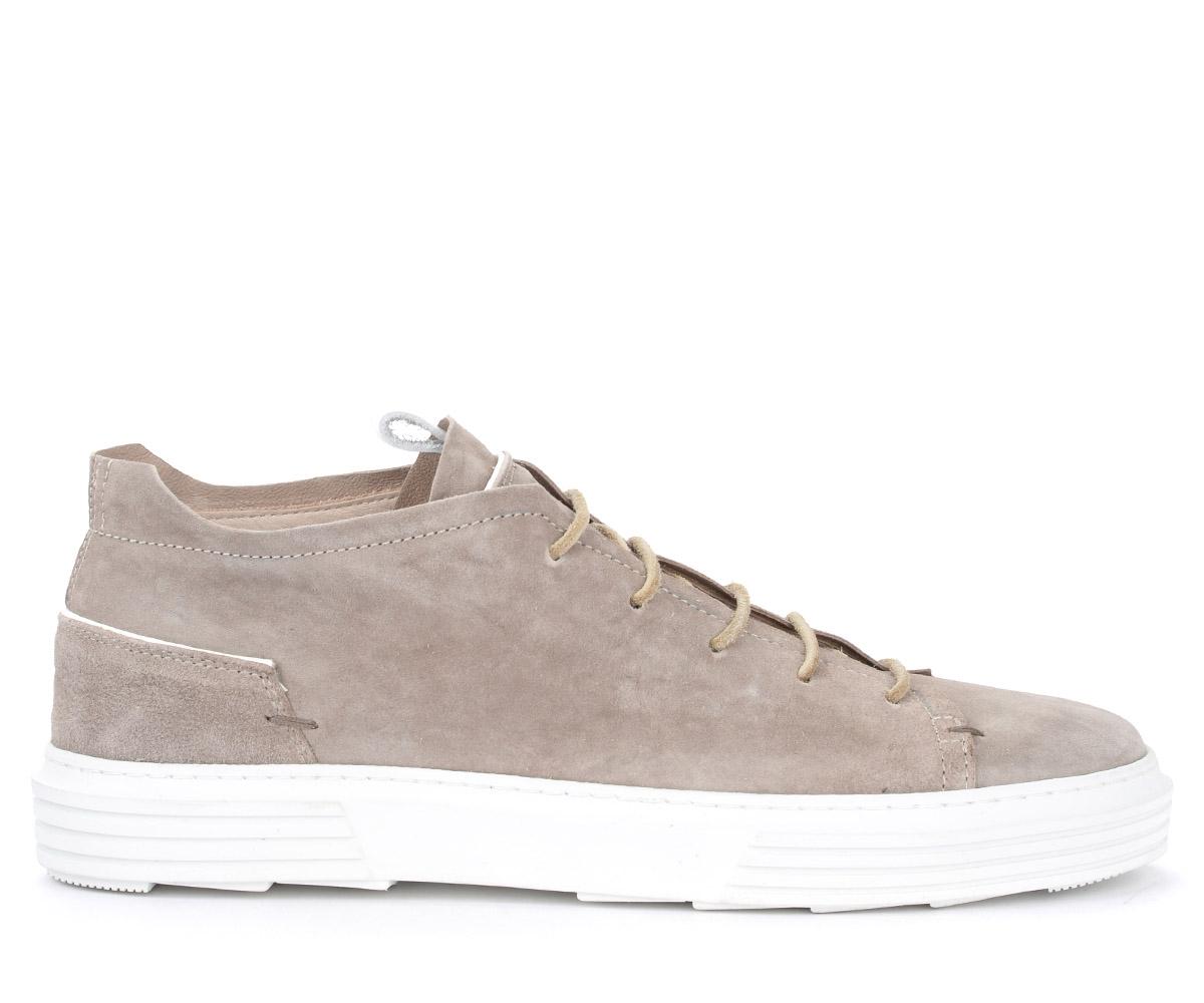 Sneakers Moma Oliver en daim gris - MOMA - Modalova