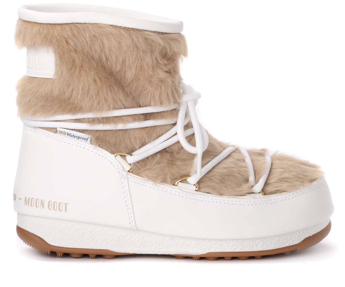 Botte de neige Monaco Low Fur WP blanc - Moon Boot - Modalova