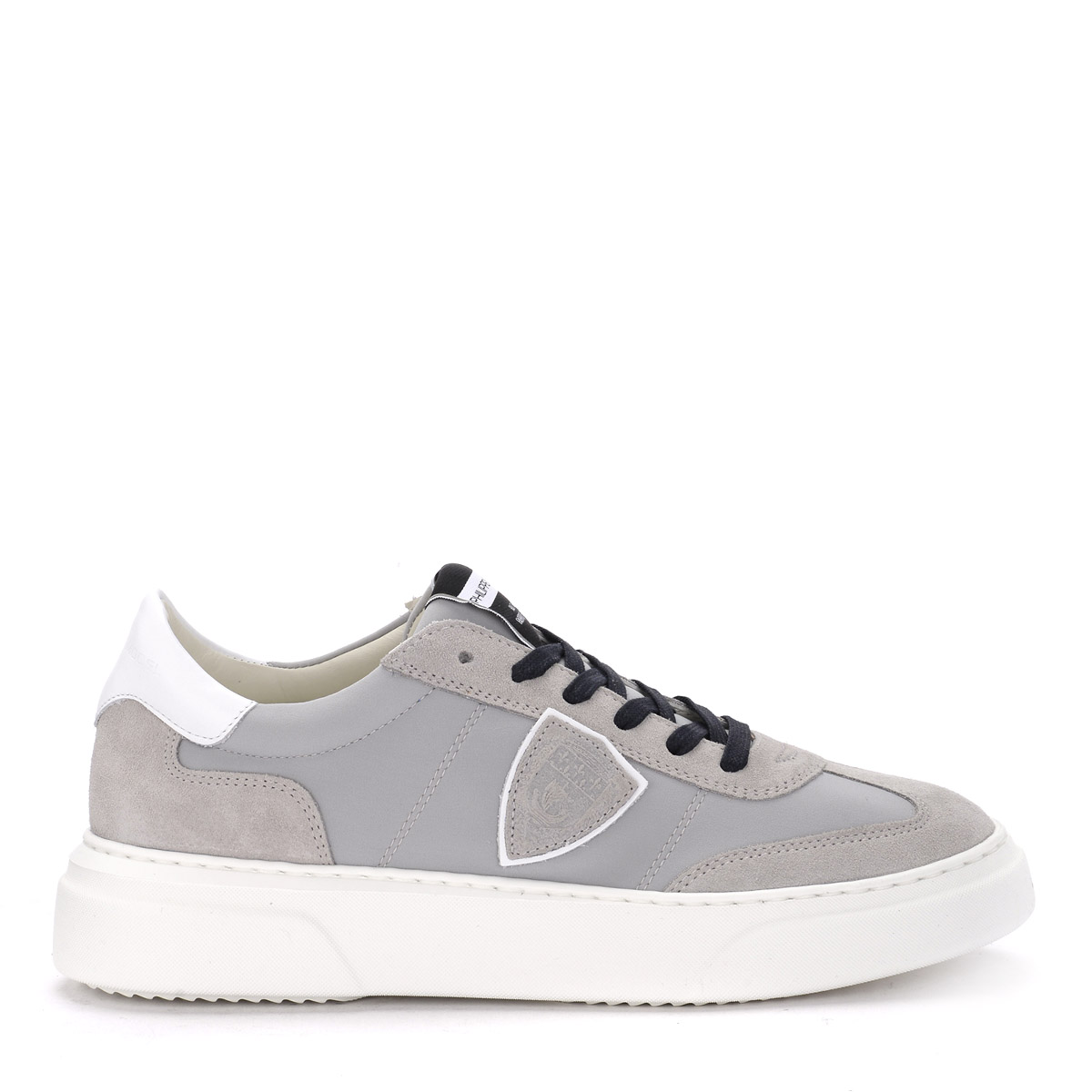 zapatillas Philippe Model Temple in Suede and gris fabric
