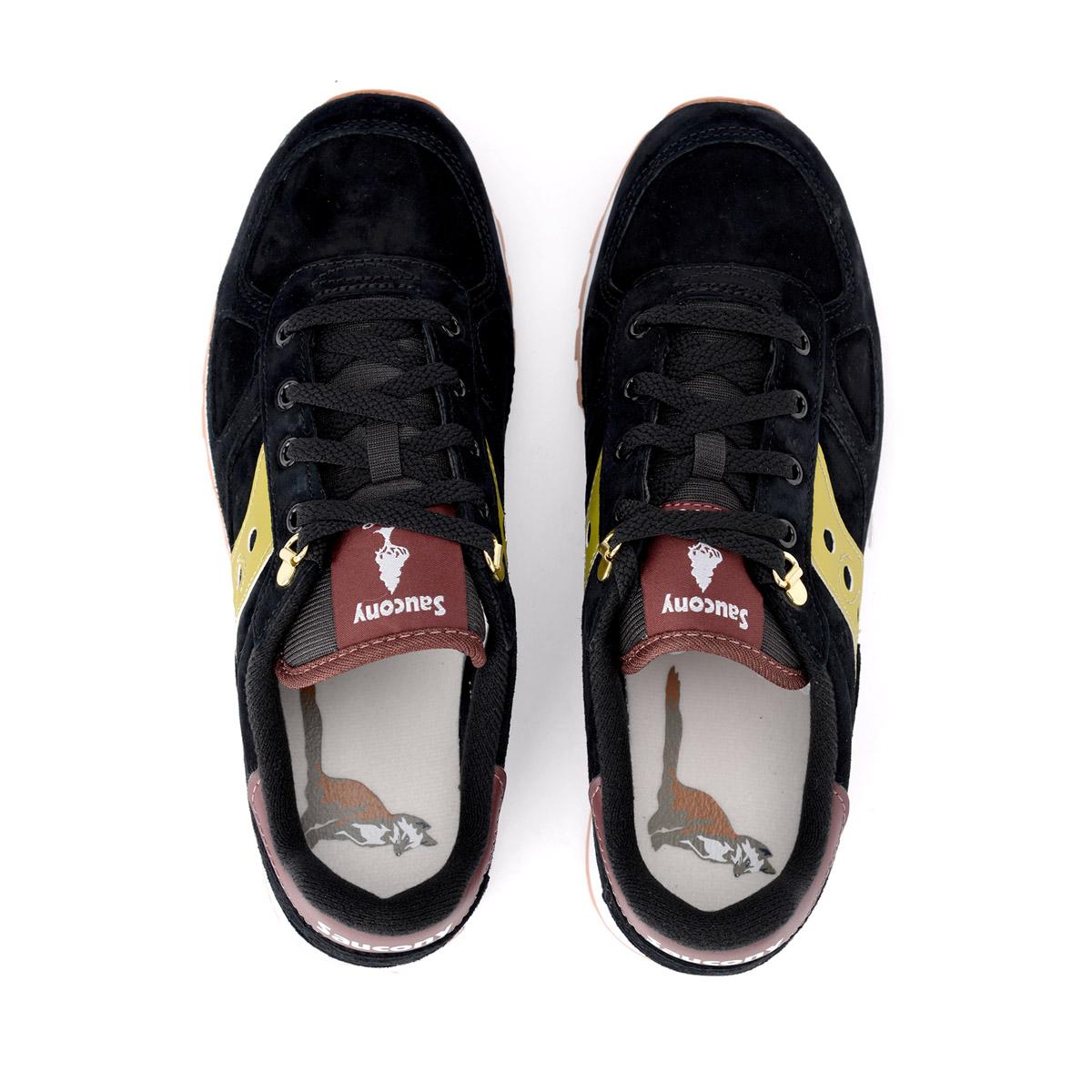 Pelle Saucony Sneaker Nero Shadow E Oro Giallo Suede In p4qYdqw