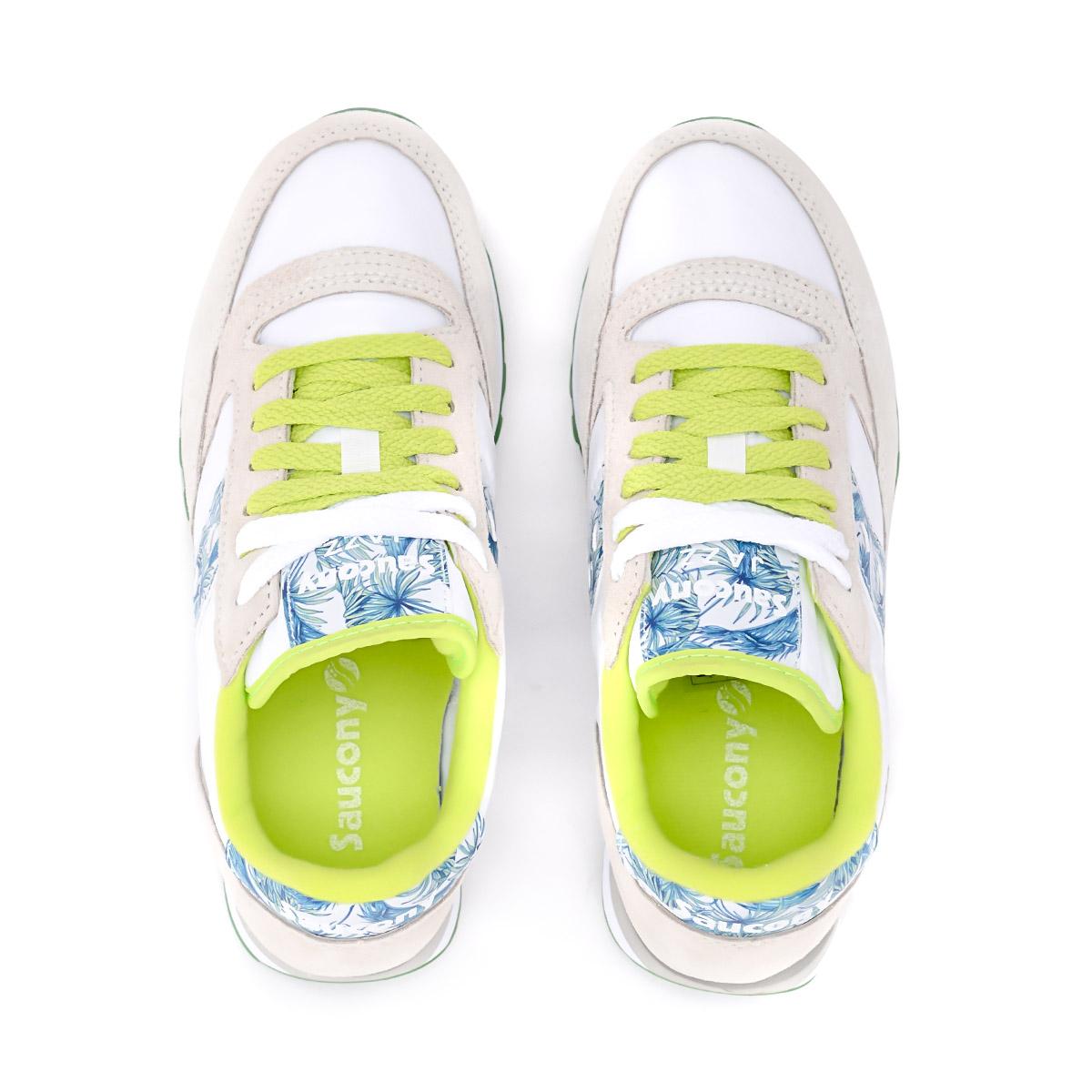 Dettagli su Sneaker Saucony Jazz in suede grigio perla e palme