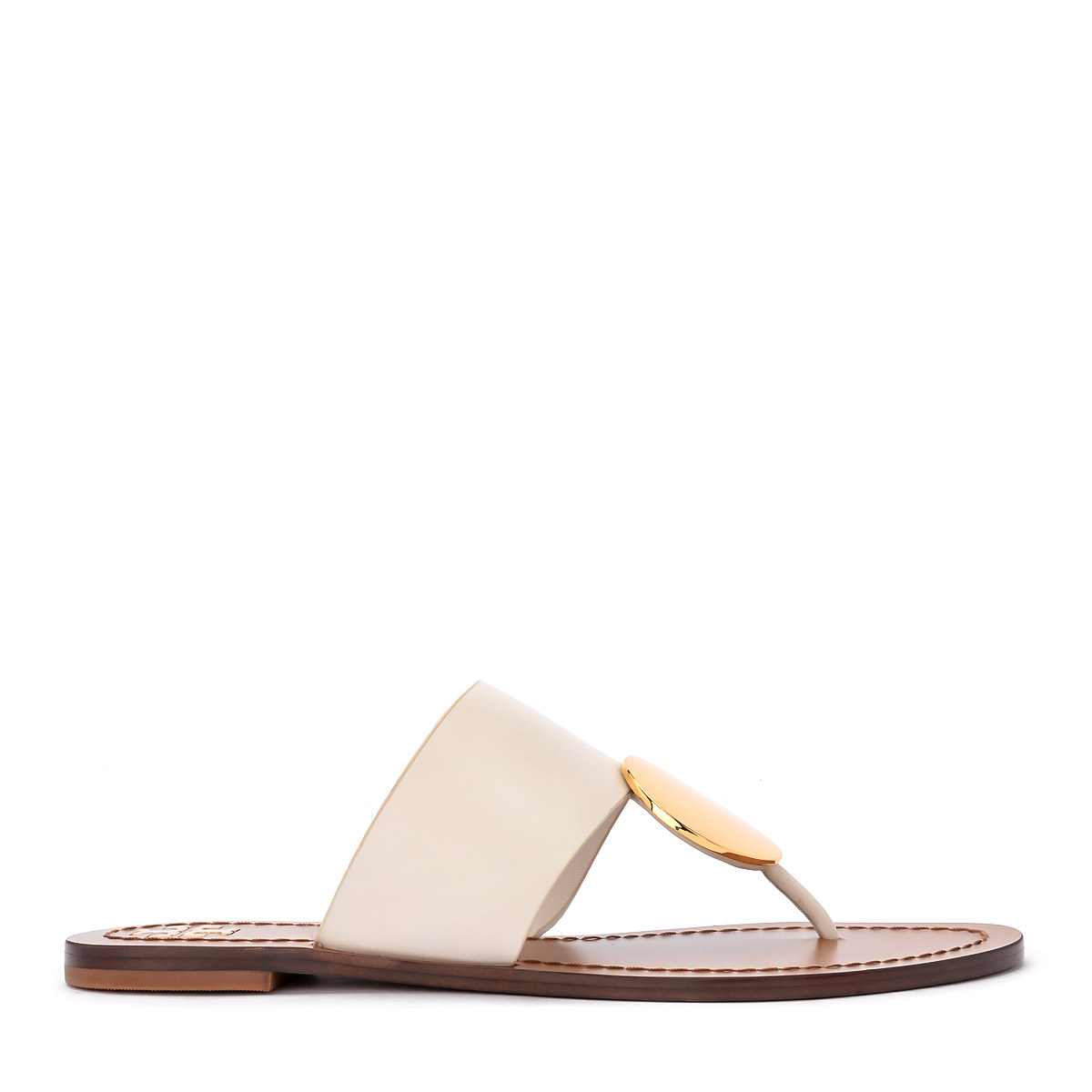 Sandalo Tory Burch Patos in pelle avorio